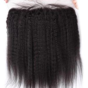 3Pcs / Lot 5A Remy Long Free Part Kinky Straight Indian Human Hair Weaves -