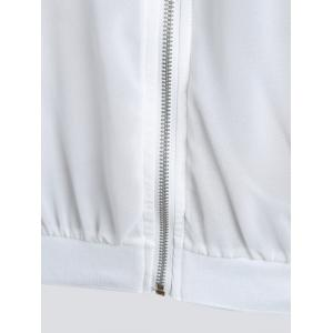 Sun Protect  Embroidered Plus Size Bomber Jacket - WHITE XL
