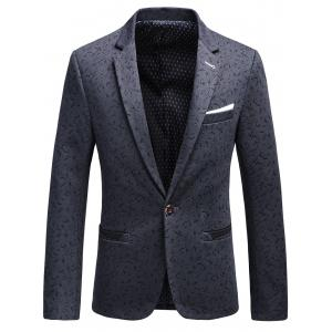 Faux Chest Pocket Scattered Pattern Blazer