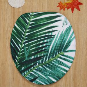 3PCS/Set Palm Leaf Toilet Lid Cover and Floor Rugs -