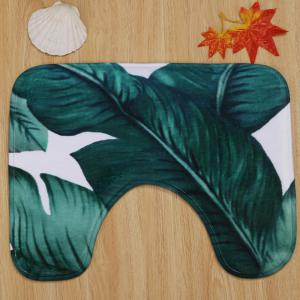 Leaves Pattern Antislip 3Pcs Bathroom Mats Set -