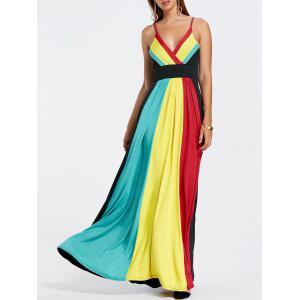 Rainbow Maxi Pleated Dress