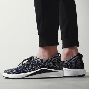 Flyknit Lace Up Casual Shoes - BLUE 43