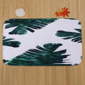 Coral Fleece Watercolor Leaf 3Pcs Toilet Rugs Set -