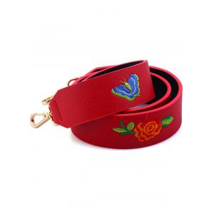 Embroidery Flower Butterfly Bag Shoulder Strap -