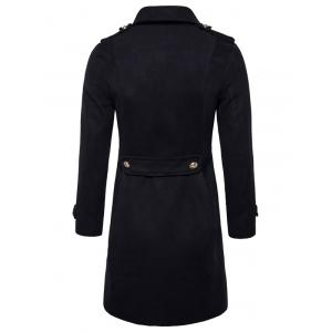 Double Breasted Peacoat - BLACK 2XL