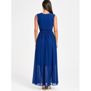 Ruched strass Party Maxi Flowy Dress -
