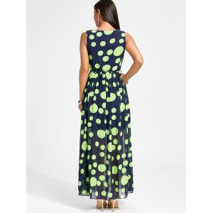 Polka Dot Swing Maxi Dress - NEON GREEN M