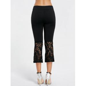 Flare Lace Insert Sheer Pants -