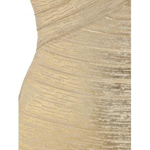 Bandeau Metallic Bandage Dress -
