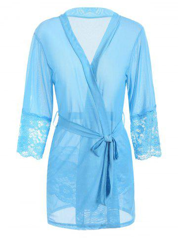 Chic Sheer Mesh Lingerie Wrap Babydoll OASIS M