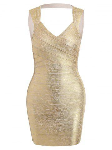 Trendy Metallic Night Out Bandage Dress