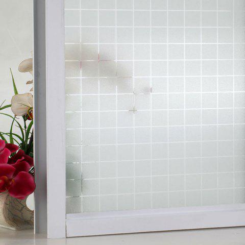 Affordable Electrostatic Window Glass Frosted Wall Sticker - MATTE WHITE  Mobile