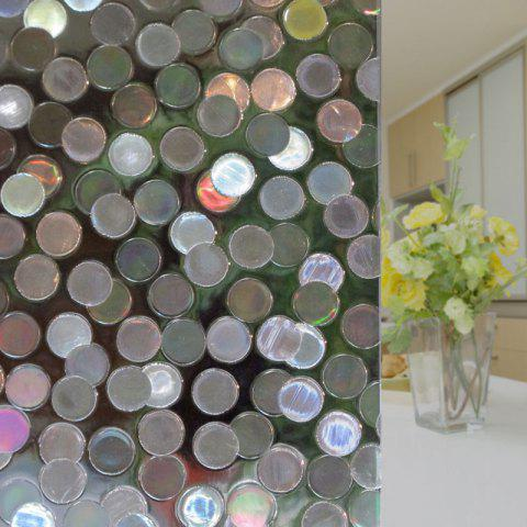 Hot Electrostatic Round Pattern Glass Wall Sticker - CLEAR WHITE  Mobile