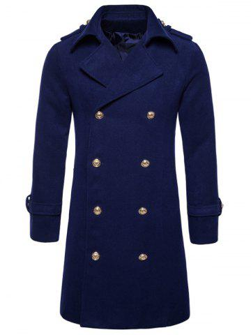 Cheap Double Breasted Peacoat CADETBLUE S