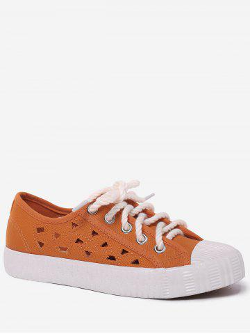 Discount Hollow Out Canvas Athletic Shoes