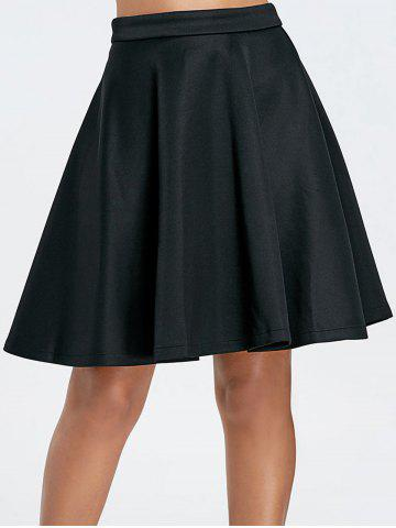 Latest Stylish Solid Color Flare Skirt For Women