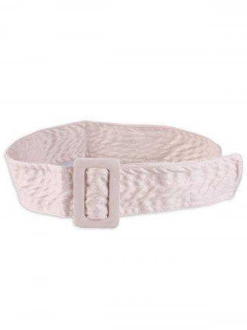 Best Wide Faux Suede Rectangle Buckle Waist Belt