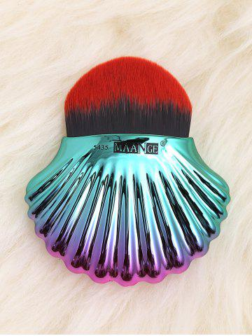 Unique Two Tone Ocean Shell Shape Foundation Brush BLACK RED