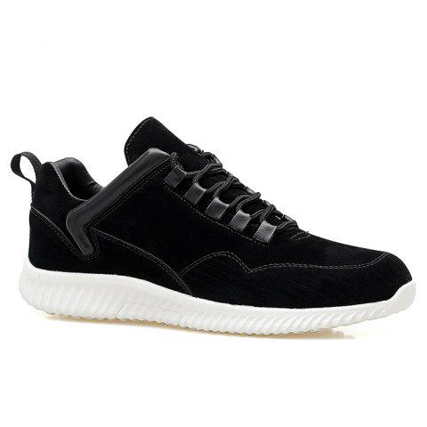 Low Top Tie Up Athletic Shoes - Black - 44