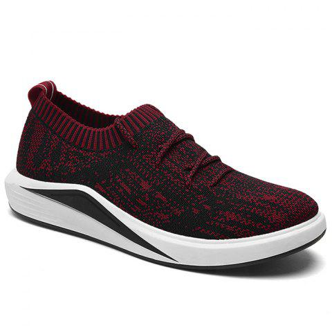 Store Flyknit Lace Up Casual Shoes RED 43