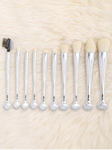 Discount 10Pcs Shell Shape Multifunction Gradient Color Brushes Set