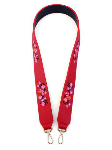 Affordable Bag Strap with Tiny Floral Embroidery RED