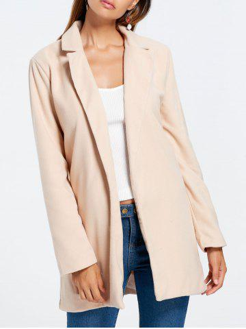 Fancy Longline Slim Fit Lapel Blazer APRICOT L