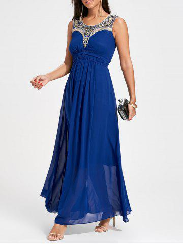 Ruched strass Party Maxi Flowy Dress