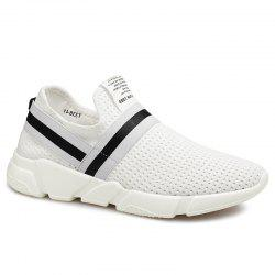 Elastic Band Hollow Out Slip On Casual Shoes