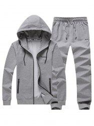 Embroidered Zip Up Hoodie Twinset