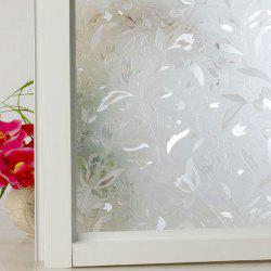 Floral Electrostatic Window Glass Wall Sticker - CLEAR WHITE