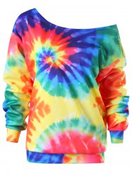 Convertible Collar Tie Dye Sweatshirt