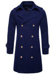 Double Breasted Peacoat - CADETBLUE S