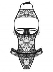Lingerie Lace Sheer Cut Out Teddy