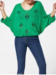 Batwing Sleeve Jumper Ripped Sweater
