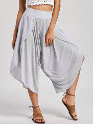 High Waisted Wide Leg Capri Pants