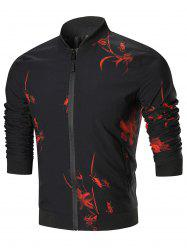 Zipper Chinese Cricket Print Jacket