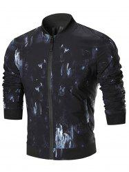 Oil Painting Zip Up Jacket