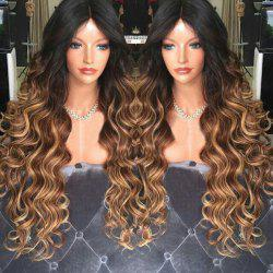 Middle Part Long Shaggy Wavy Synthetic Wig