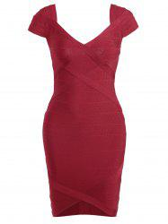 Night Out V Neck Bandage Dress -