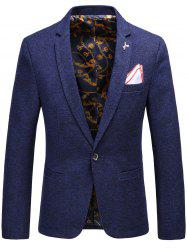 Faux Handkerchief Brooch Design Blazer