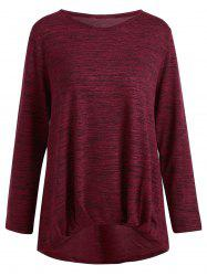 Marled Basic Long Sleeve Plus Size Tee