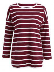 Plus Size Striped Printed Tunic T-shirt