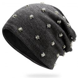 Tiny Skull Rivet Beanie Hat