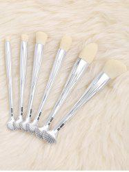 6Pcs Shell Design Plated Facial Makeup Brushes Set