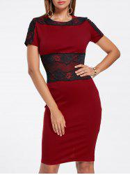 Lace Panel Pencil Dress