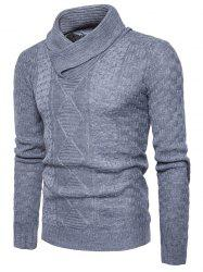 Ribbed Shawl Collar Pullover Sweater