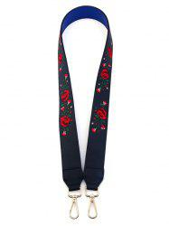 Floral Embroidery Shoulder Strap Bag Accessory -