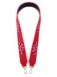 Bag Strap with Tiny Floral Embroidery - RED